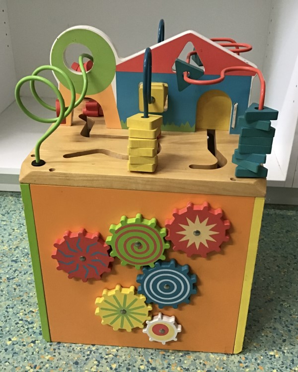 B007: Wooden Activity Cube