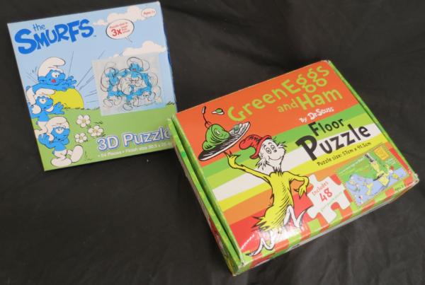 P007: Smurfs 3D puzzle & Dr Seuss Puzzle Set