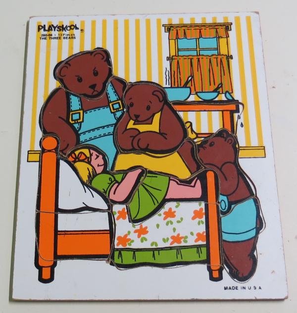 P052: Playskool Three Bears Puzzle