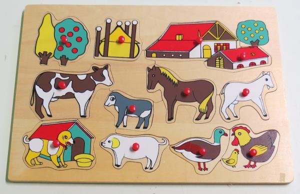 P058: Farm animals with Barn Puzzle